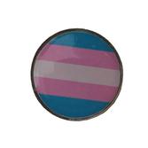 Pins med transgenderflagga