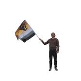 Stor björnhandflagga utan pinne 90x150 cm